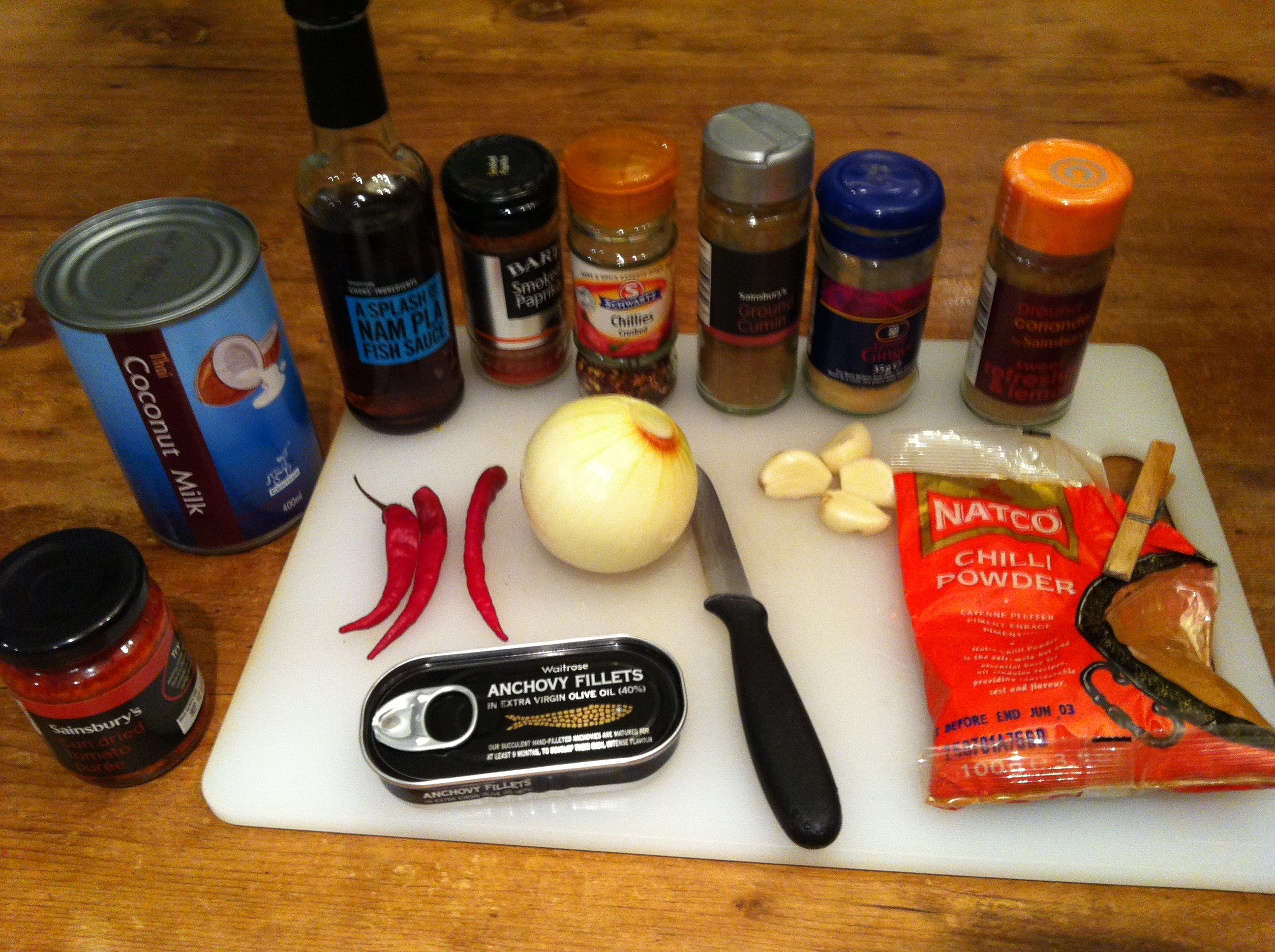 Gregs red curry paste ingredients