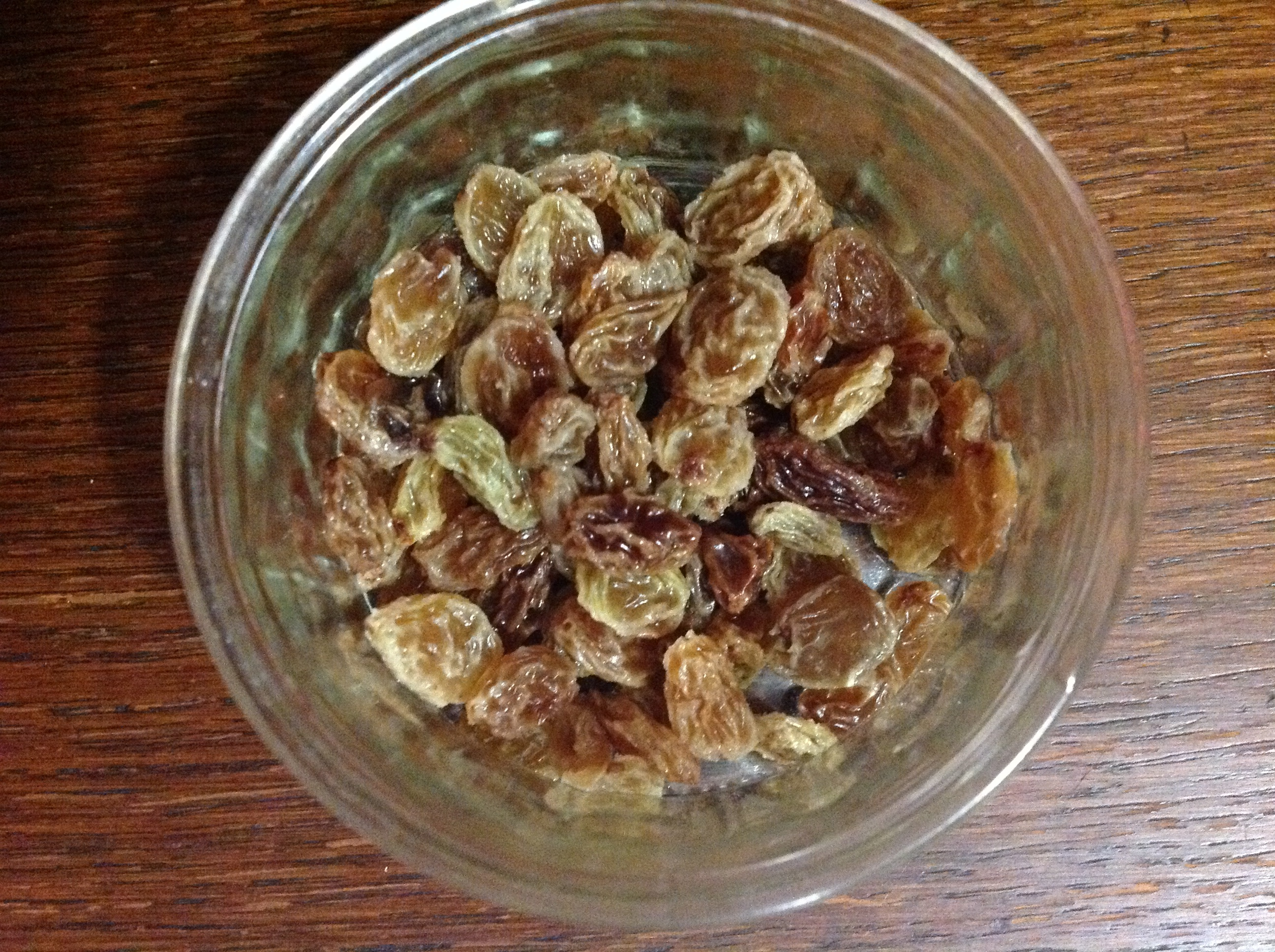 Sultanas - after soaking
