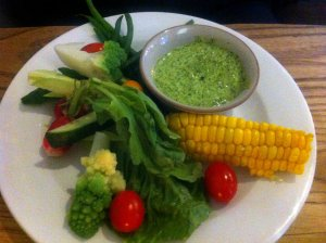 Crudités with lovage dip