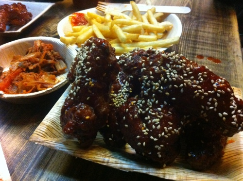 Korean Wings, Chips & Kimchi at Jubo, Shoreditch
