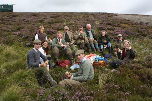 Lunch on the hill on the Glorious Twelfth