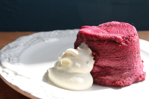 Individual summer pudding