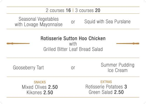 Le Coq Menu Rotisserie Chicken Islington