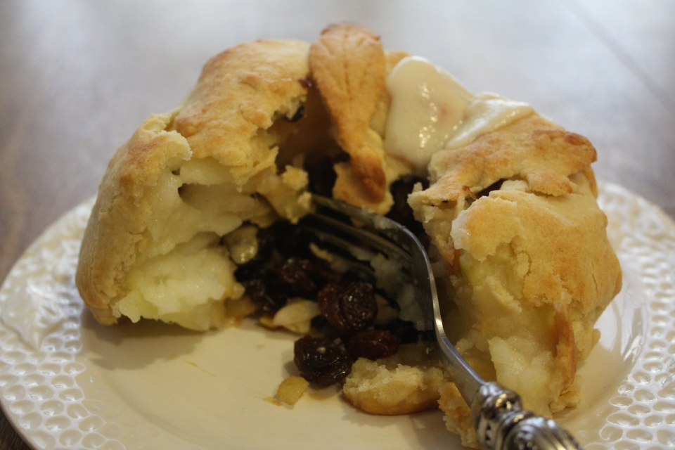 baked apple opened mincemeat
