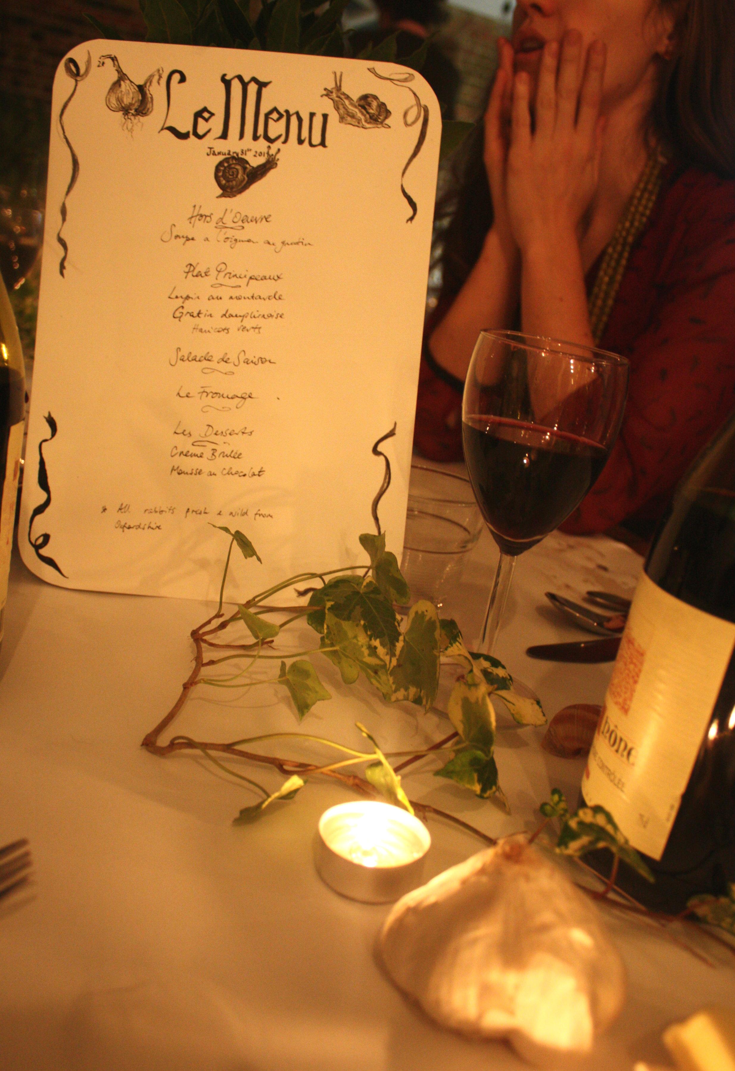 lapin menu