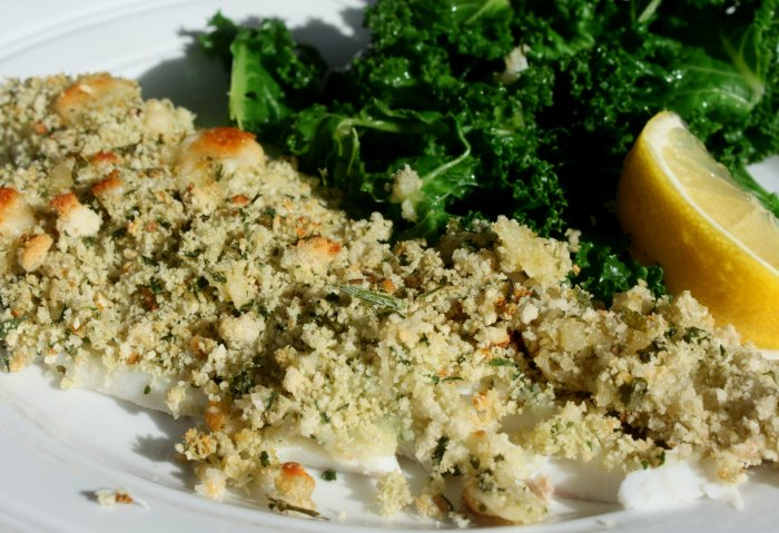 Whiting and breadcrumbs