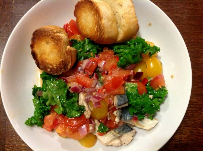 warm mackerel salad